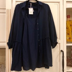 Free People two piece navy dress